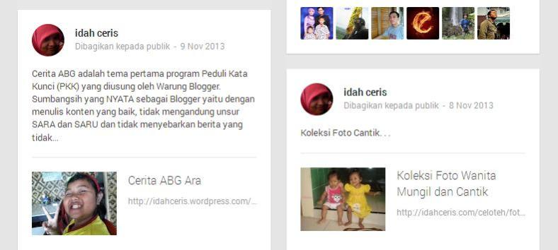 HASIL SHARE GOOGLE+