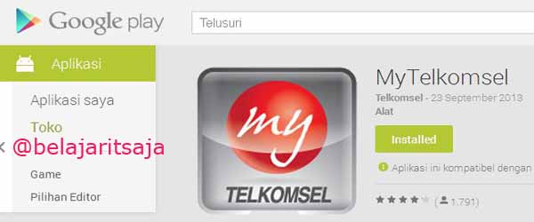 1 cara download mytelkomsel