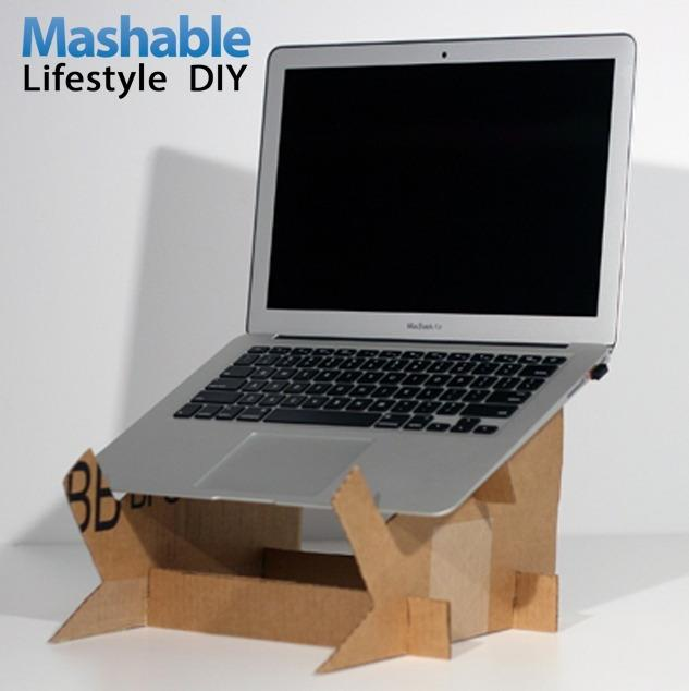 sumber : mashable.com/2012/10/13/cardboard-laptop-stand-diy