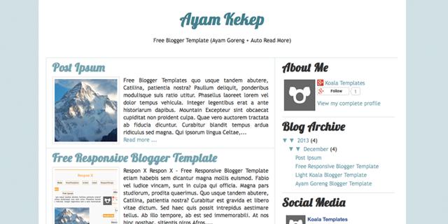 ayam kekep template blogspot